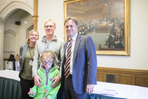 Julian Sturdy with the Dale family